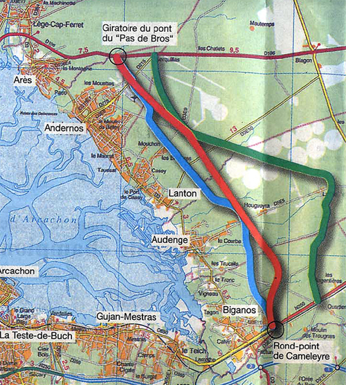 La Route De L Est Contournement Du Bassin D Arcachon